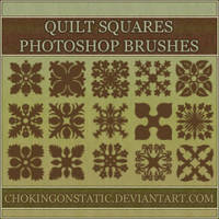 quilt square brushes by chokingonstatic