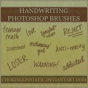 handwriting brushes