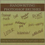 handwriting brushes
