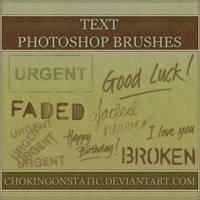text brushes 1 by chokingonstatic