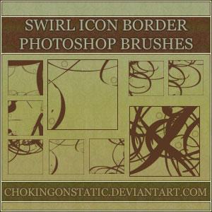 swirl icon border brushes by chokingonstatic
