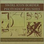 swirl icon border brushes