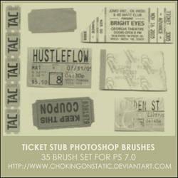 ticket stub brushes