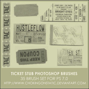 ticket stub brushes by chokingonstatic