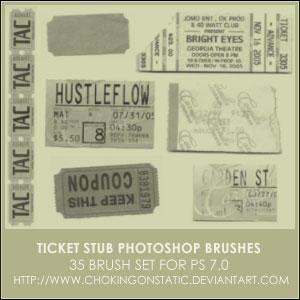 ticket stub brushes by chokingonstatic