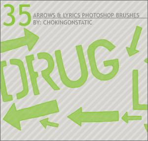 arrow lyric brushes by chokingonstatic