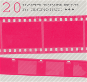 Film strip photoshop brush