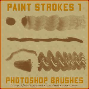 paint stroke brushes 1 by chokingonstatic