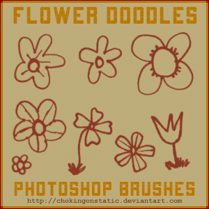 flower doodle brushes by chokingonstatic