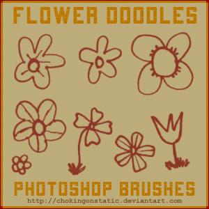 flower doodle brushes by chokingonstatic