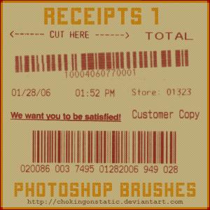 receipt brushes 1 by chokingonstatic