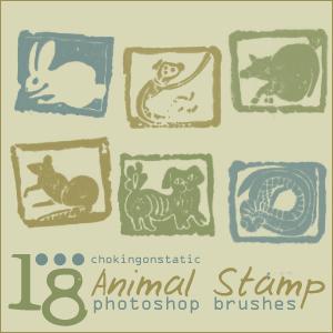 animal stamp brushes by chokingonstatic