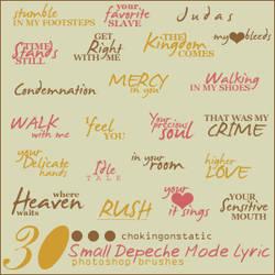 depeche mode lyric brushes 3