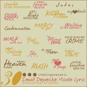 depeche mode lyric brushes 3 by chokingonstatic