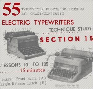 typewriter brushes by chokingonstatic