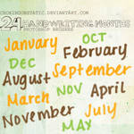 handwriting-months brushes