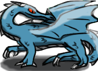 Bleue dragon icon by ColdBlod23