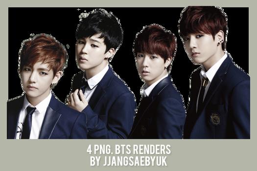 [RENDER] #01PACK BTS by jjangsaebyuk