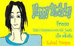 Happy Birthday brunette guy