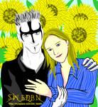 The Couple in Sun Flower Farm