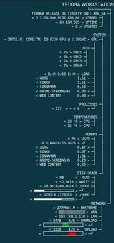 Conky Fedora Tree