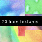 20 Watercolor Icon Textures by gwagirl1