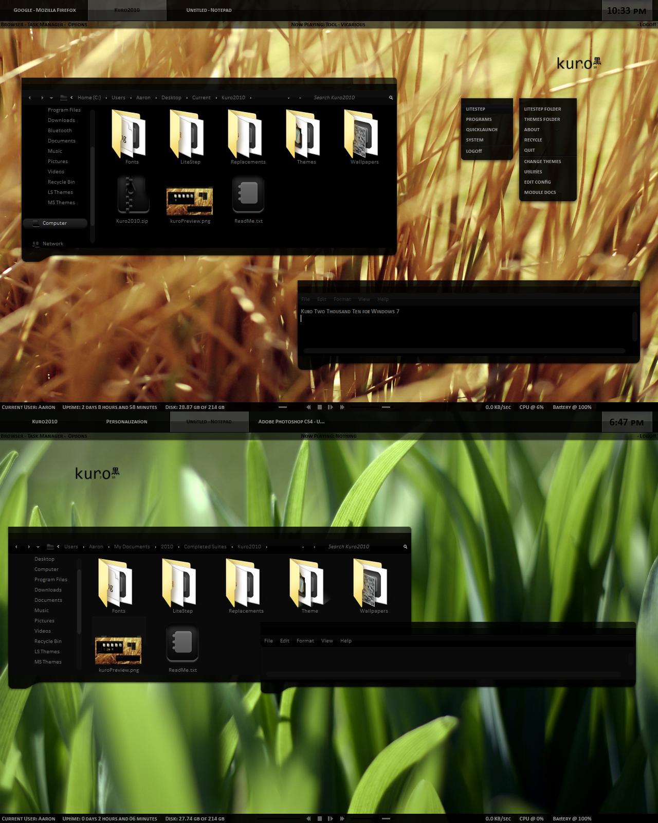 Kuro 2010 for Windows 7