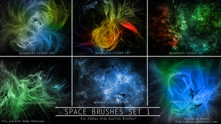 Galactic Space Brushes Set 1