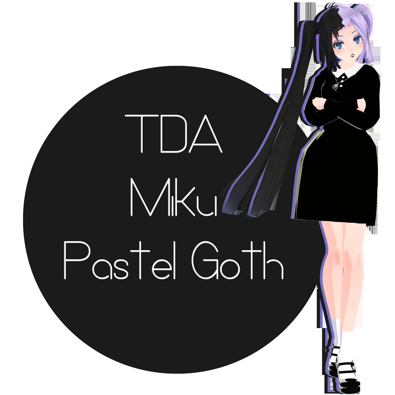 TDA Nightmare Gothic Miku - MMD DL [Down] by Meennie46 on