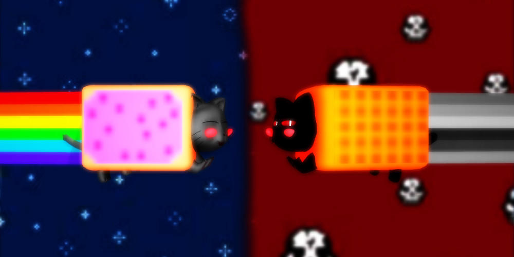 MMD Nyan Cat and Tac Nayn +DL by Invader-Alexis2 on DeviantArt