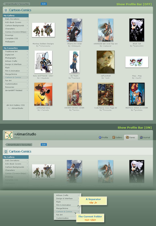 dA V6.0 Gallery CSS by AimanStudio