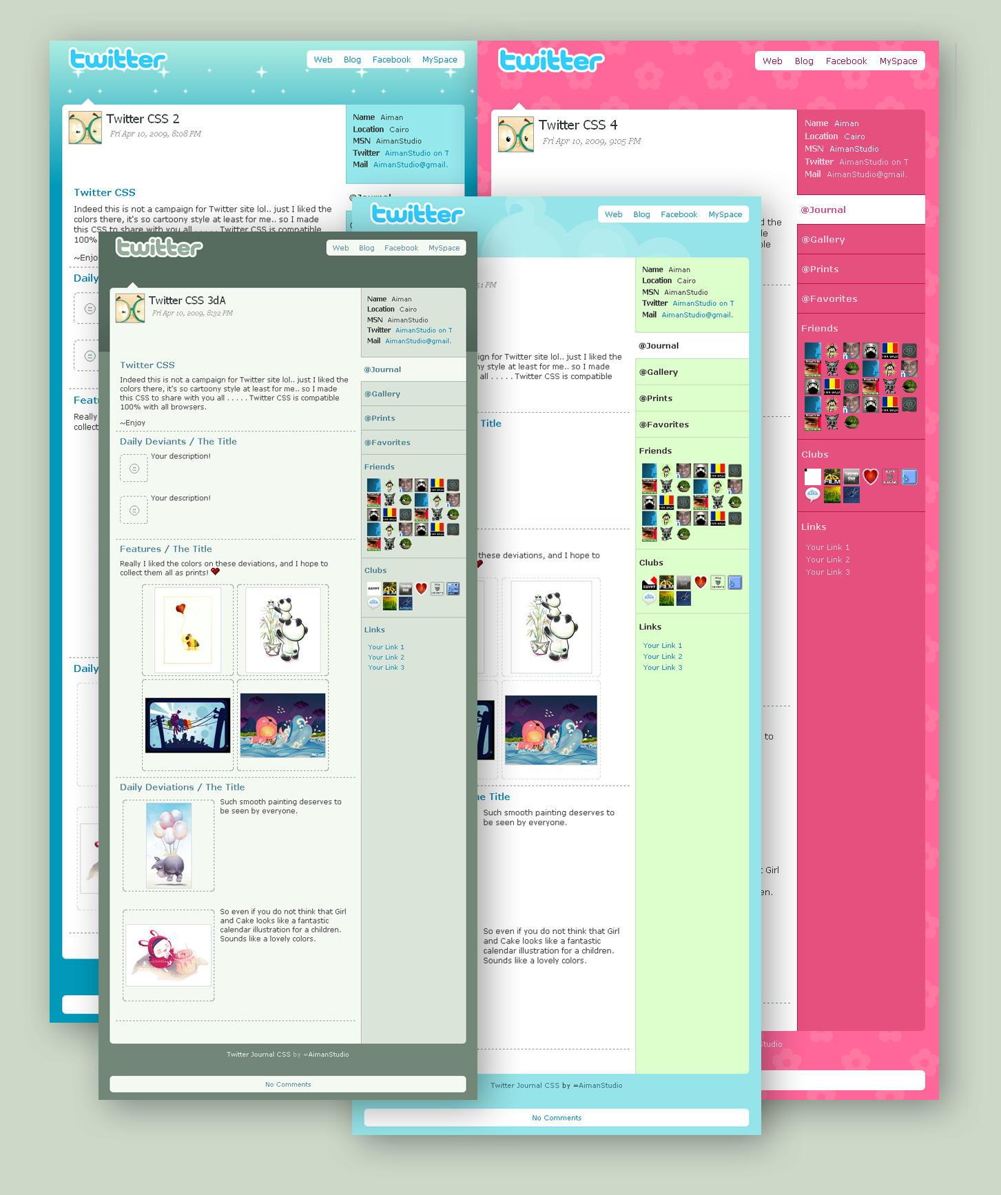 Twitter CSS by AimanStudio