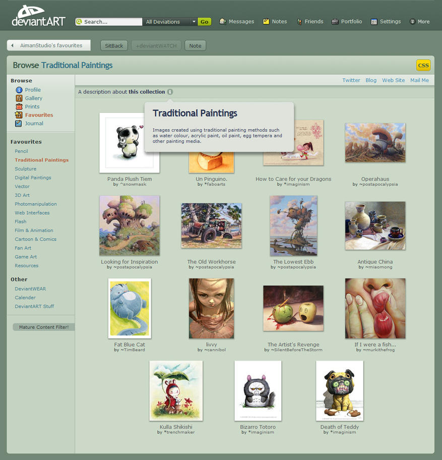 dA V7.0 Gallery CSS by AimanStudio