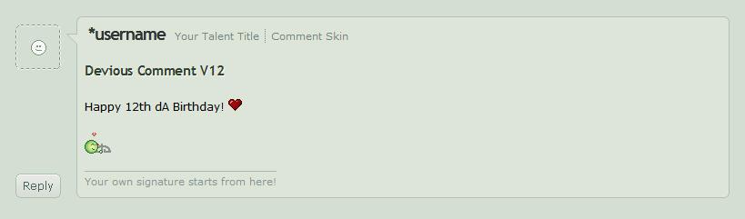 dA Comment Skin