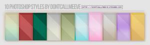 Photoshop Styles (lines + gradient)