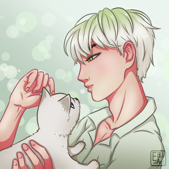 Zelan with Mr  Purrfect from Freaking Romance by EBJ-Art on