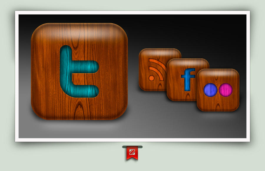 Social Media Wood  icons by Macuser64