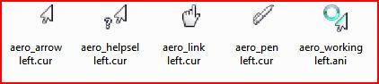 Vista 7 Aero cursors Left-hand by ezio