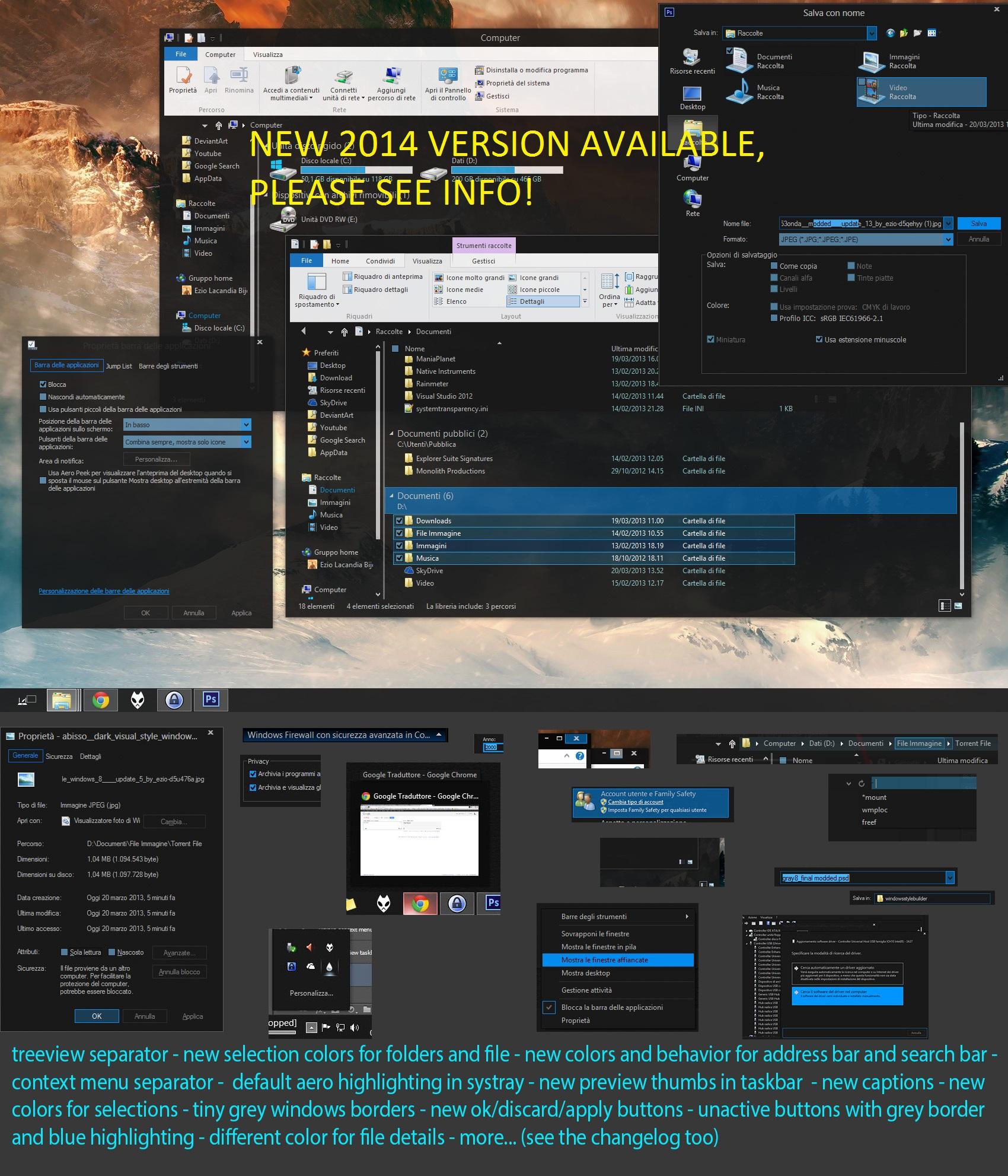 Gray8MOD (dark Visual Style Windows 8.1 Upd.1) U20
