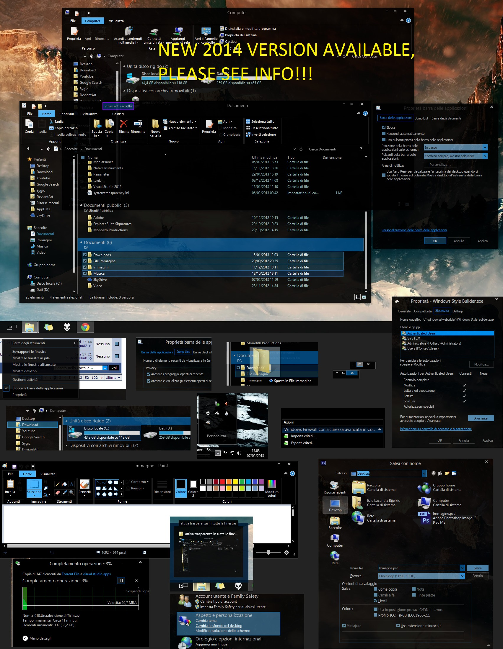 Abisso (dark Visual Style Windows 8.1 Upd.1) Upd13 by ezio