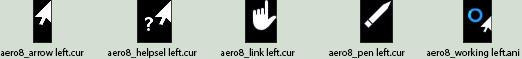 Windows 8 Aero cursors Left-hand