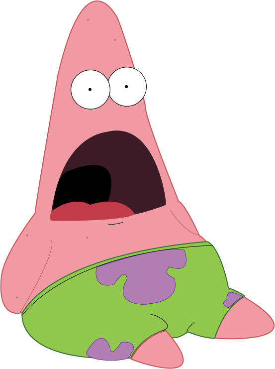 Patrick star mad faces