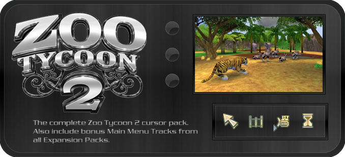 Zoo Tycoon 2 - Cursor Pack by TheJiggyMonster