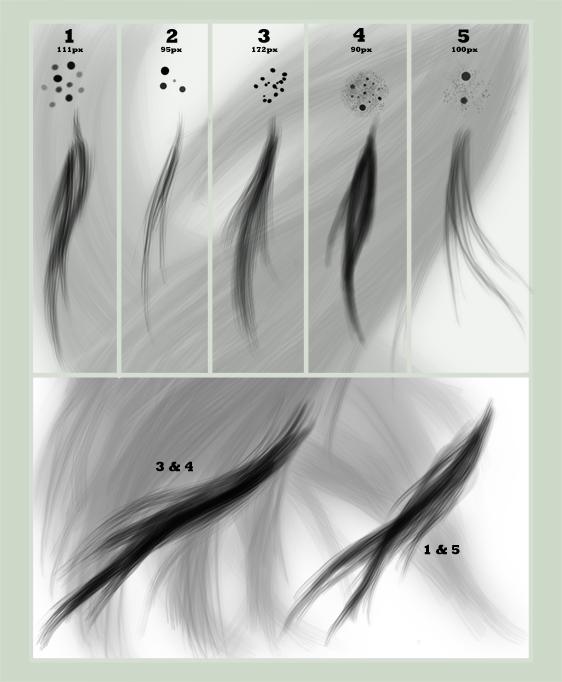 Hair Brush Set for GIMP
