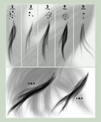 Hair Brush Set for GIMP by Cascade--Studios