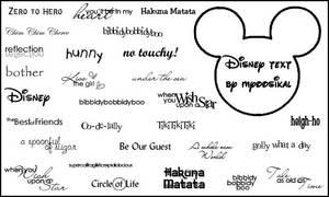 Disney Text