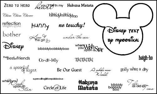 Disney Text by myoosikal