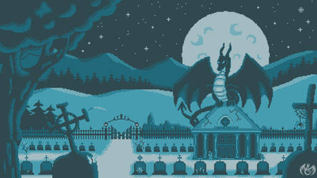 [PixelArt] [GIF] Silent Night - big version