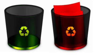Dark Chrome Recycle Bin by leonheart55