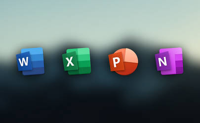 New Office 2019 Icon (macOS style) by Zonz-Ly